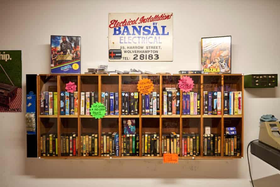 Bansal re-creation of the video shop shelves.