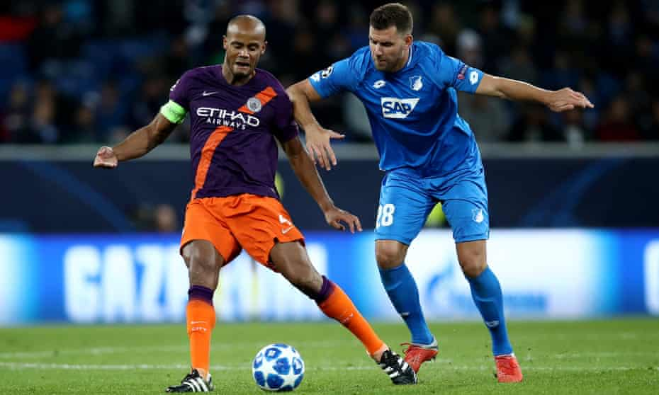 Vincent Kompany (left) featured in Manchester City's Champions League win at Hoffenheim on Tuesday.
