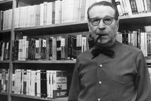 Georges Simenon at home in Switzerland, 1973