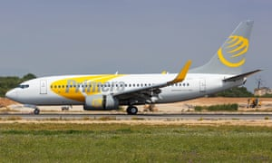 A Primera Air plane in Mallorca