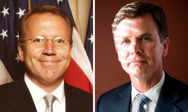 Although Ron Nehring and Tim Clark are now on opposite sides of the Republican presidential race, they have been close associates for several years. Composite: Facebook/Max Whittaker for the Guardian