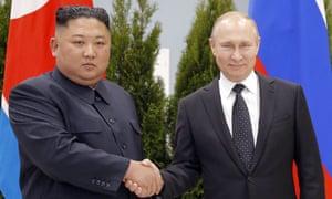 Brothers In Nuclear Arms Trump Defends Vladimir Putin And Funny Kim Jong Un Donald Trump The Guardian