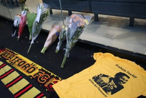 After the announcement of the sad passing of Graham Taylor, the tributes started to be laid at Vicarage Road