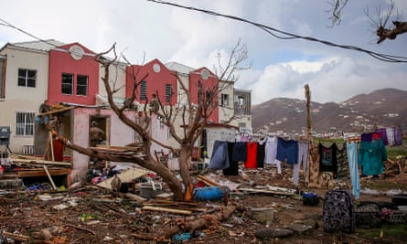 A home in the British Virgin Islands after it was hit by Hurricane Irma, the most powerful Atlantic hurricane ever recorded.