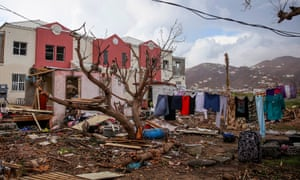Irma relief efforts on the British Virgin Islands have been halted as Hurricane Maria approaches.
