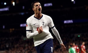 Tottenham Hotspur's Erik Lamela celebrates scoring his side's second goal.