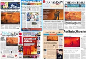International front pages