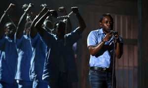 Kendrick Lamar performs at the Grammys
