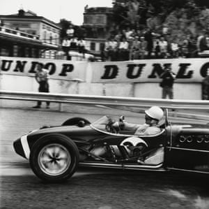 Stirling Moss tackles Station Hairpin in his Rob Walker Lotus 18 Climax on his way to winning the 1961 Monaco Grand Prix.