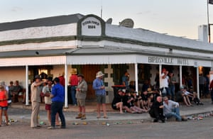 After enjoying a second day's racing it's back to the Birdsville Hotel for a cold one