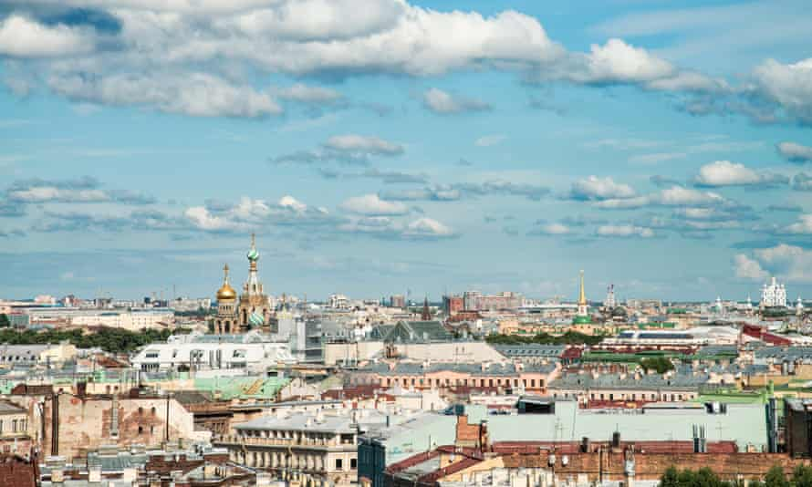 A views over Saint Petersburg from the top of Saint Isaac's Cathedral.