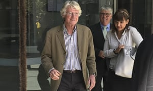 Julian Wright (left) leaving the Western Australia supreme court in Perth