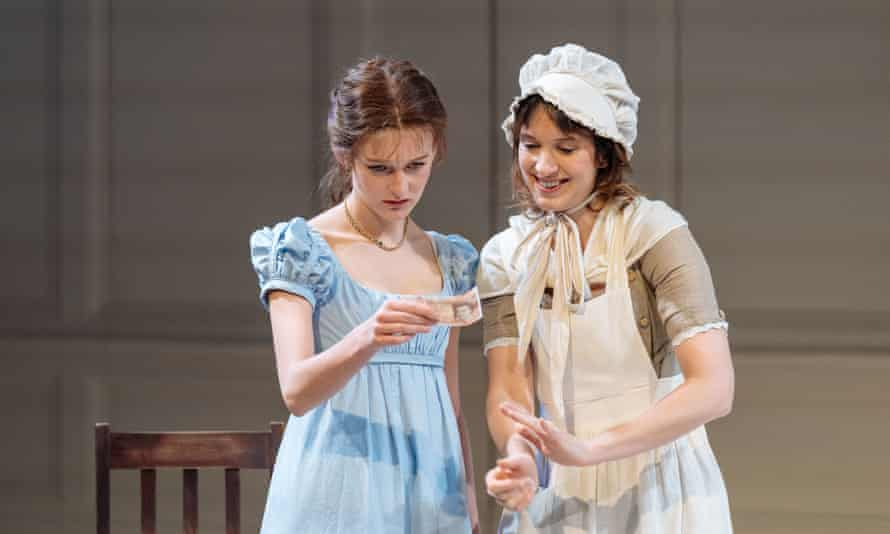 Grace Molony (Emma Watson) and Louise Ford (Laura) in Laura Wade's The Watsons at Chichester Festival theatre.