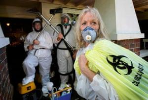 Sandra Pankhurst, trauma cleaner, in 2007