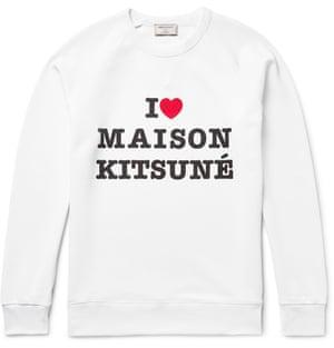 I heart, £125 Maison Kitsune mrporter.com