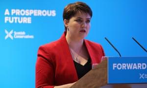 Scottish Conservative leader Ruth Davidson launches the Scottish manifesto in Edinburgh on Friday