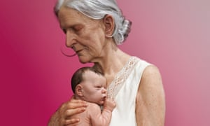 Sam Jinks, Woman and child 2010, on display at the National Gallery of Australia's Hyper Real exhibition.