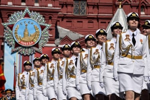 Moscow, Russia: Servicewomen march