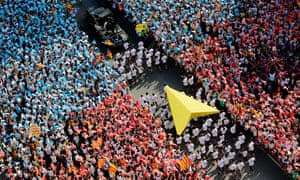 Independence demonstration in Barcelona on 11 September, Catalan National Day.