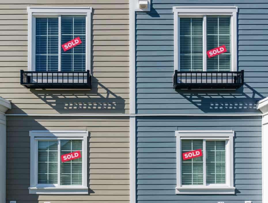 Sold signs on real state