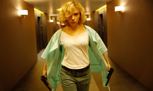 A talent for taking down the bad guys … Johansson in Lucy.