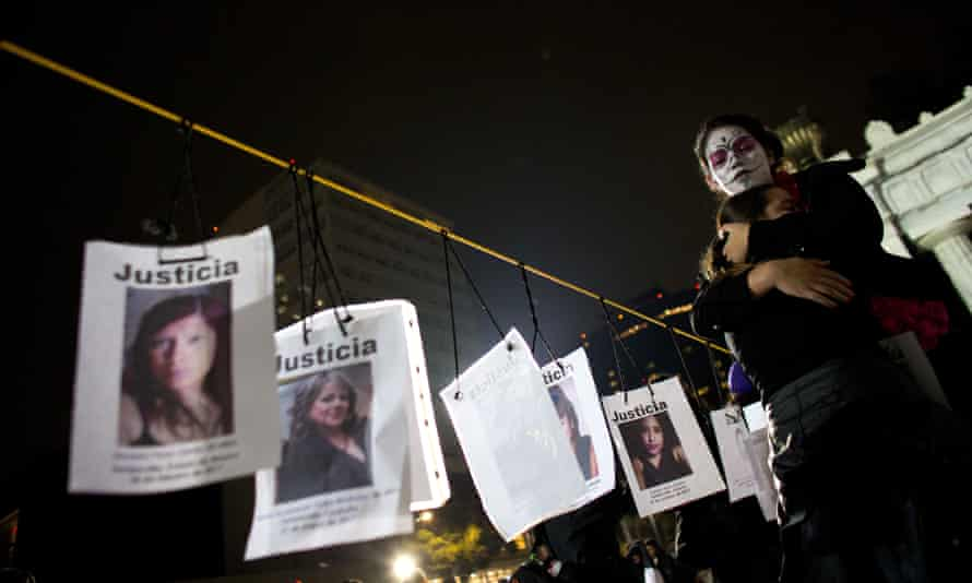 A Day of the Dead march in Mexico City calling for justice for victims of femicide.