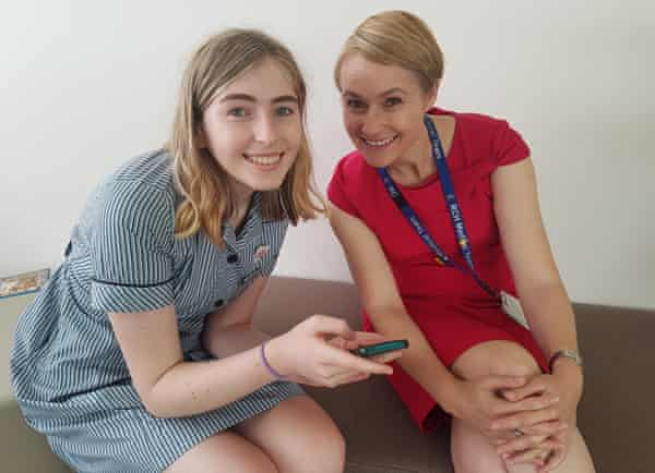 Transgender advocate Georgie Stone with Royal Children's Hospital's gender service director Dr Michelle Telfer