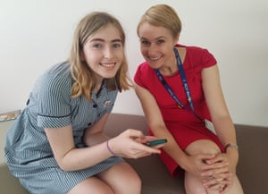Transgender advocate Georgie Stone with Royal Children's Hospital's gender service director Dr Michelle Telfer