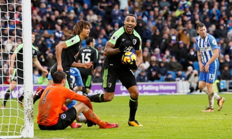 Callum Wilson's scrambled goal rescues point for Bournemouth at Brighton