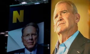 NRA chief Wayne LaPierre, left, and president Oliver North, right, have been involved in a power struggle.