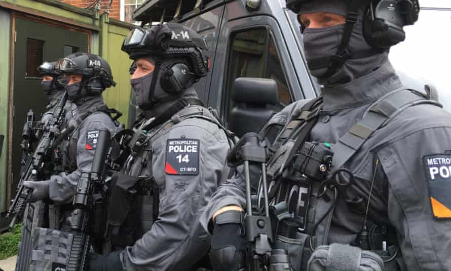 Members of the Met police's counter-terror firearms unit.