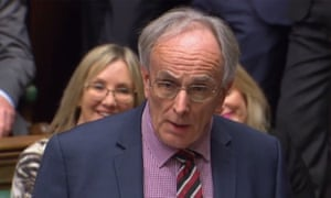 Conservative MP Peter Bone at prime minister's questions