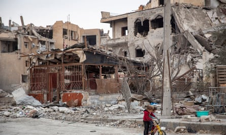 Saudi Arabia has pledged $100m intended to help revitalize communities like Raqqa, above.