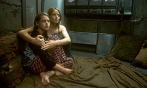 Kristen Stewart and Jodie Foster in Panic Room.