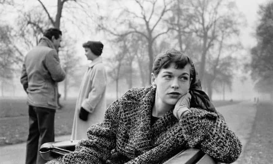 Katharine Whitehorn in Hyde Park, London, February 6, 1956