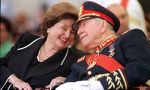 Lucia Hiriart and Augusto Pinochet