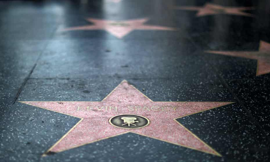 Catch a falling star: Kevin Spacey memorialized on the Hollywood Walk of Fame.