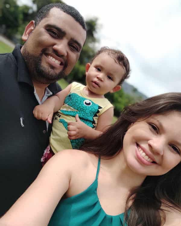 Michel Castro, his wife Juliana and one-year-old son Arthur.