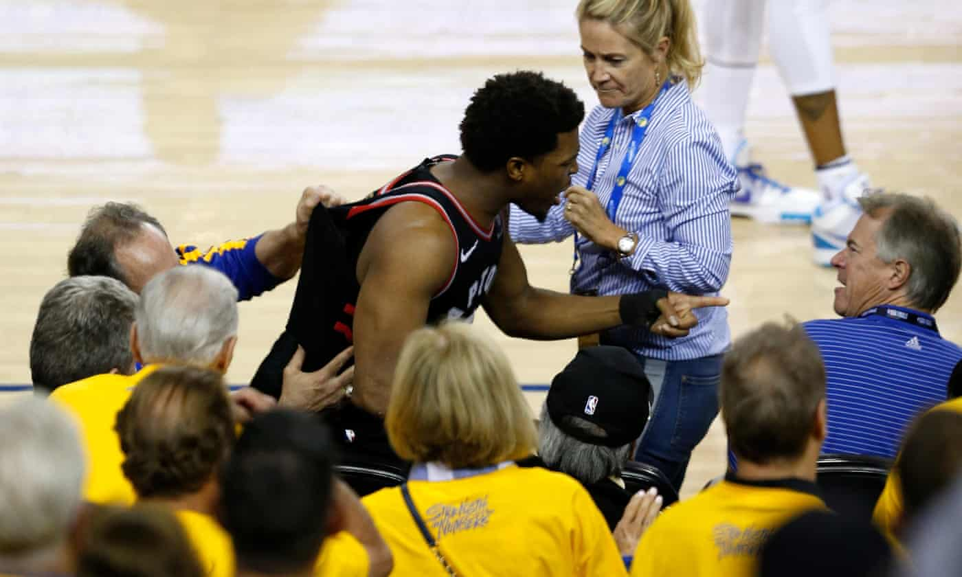 Warriors part-owner banned for one year after shoving Raptors' Kyle Lowry