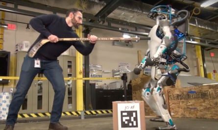 Atlas, the Boston Dynamics robot: a glutton for punishment.