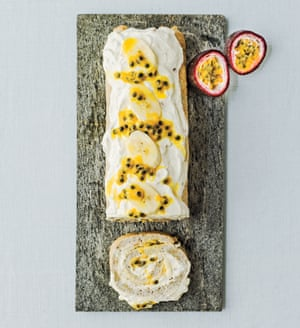 Tropical roulade from Sensationally Sugar Free by Susanna Booth