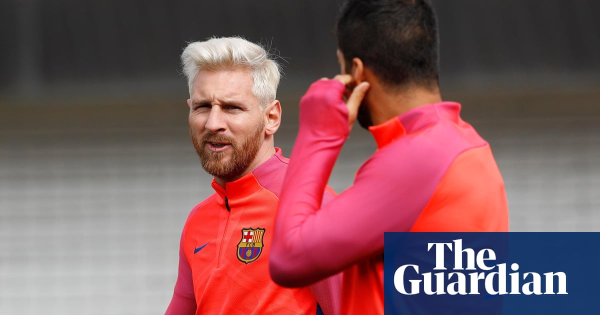 Barcelona S Lionel Messi A Hair Raising Sight For Sam Allardyce Barcelona The Guardian