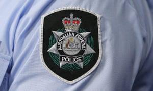 Australian Federal Police badge on a uniform