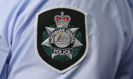 A general view of the Australian Federal Police badge September 30, 2014 in Melbourne, Australia.