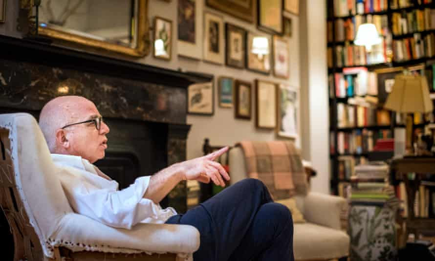 Michael Wolff at his home in New York City, speaking to the Guardian last year.