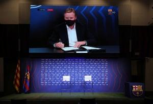 Ronald Koeman's unveiling at Barcelona