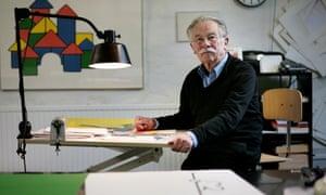 Dick Bruna, creator of Miffy, in his studio in Utrecht, the Netherlands, in 2010.