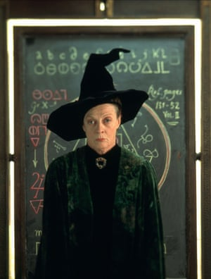 Smith puts a witty spin on her school marmish character in Harry Potter and the Philosopher's Stone.
