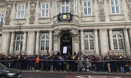 Goldsmiths staff on strike.