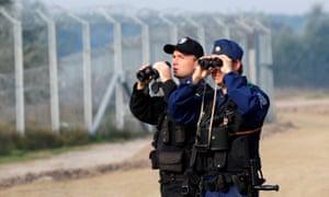 Two border policemen